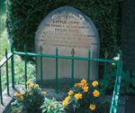 Little John's grave in Hathersage
