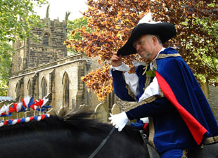 Castleton Ancient Garland Ceremony king