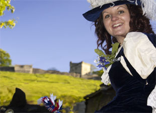 Castleton Ancient Garland ceremony consort and Peveril Castle