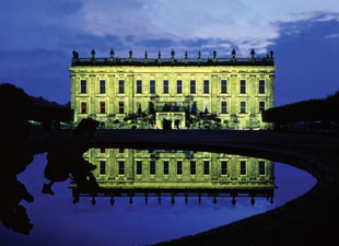 Chatsworth House at night
